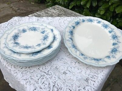 Royal Albert Tiffany Blue China Dinner Set Plates Oval Servin Platter - To Clear