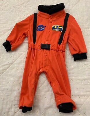 Size 6-12 Months,  Astronaut, Orange and Black, by Get Real Gear