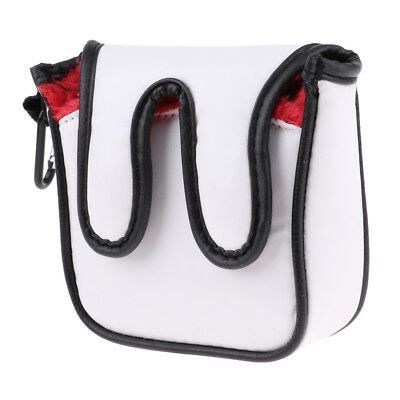 Waterproof PU Square Mallet Putter Cover Headcover Golf Club Protector Red