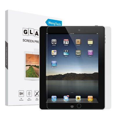 iPad 2/3/4 Glass Screen Protector, WengTech 9H Hardness Scratch-Resistant Anti-F
