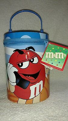 M&M's 2003 Round Zipper Lunchbox With Red Character