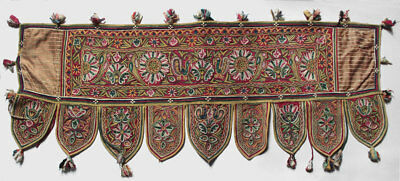 Antique Tajikistan embroidered ceremonial canopy