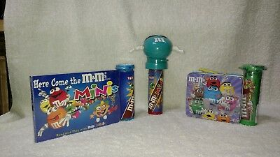 M&M's Here Come The M&M's Minis, Minis Tin & Teal Minis Dispenser With Mask