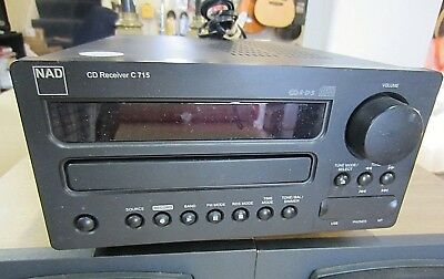 NAD C715 STEREO RECEIVER WITH BUILT-IN CD PLAYER w REMOTE ~ GOOD COND