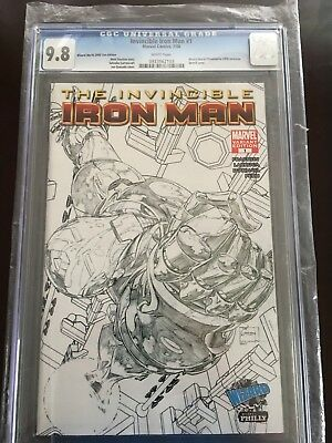 The Invincible Iron Man # 1 CGC 9.8 Wizard World 2008 Sketch Philly Variant