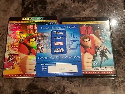 Disney Pixar Wreck It Ralph UHD Digital Code ONLY from 4K package