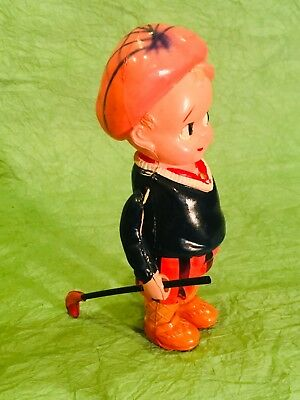 Striped Nickers Antique 1930's  Celluloid Toy Golf Caddie With Club