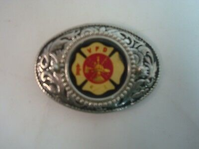 Vintage Volunteer Fire Department Belt Buckle