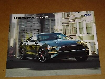 2019 Ford Mustang Bullitt Sales Brochure Mint! 4 Pages