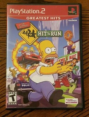 The Simpsons: Hit and Run - PlayStation 2 PS2 - Complete CIB Excellent Condition