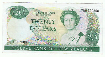 New Zealand $20 Paper Note Banknote