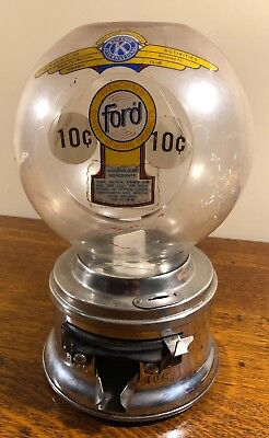 Vintage Ford 10 Cent Gumball Peanut Machine