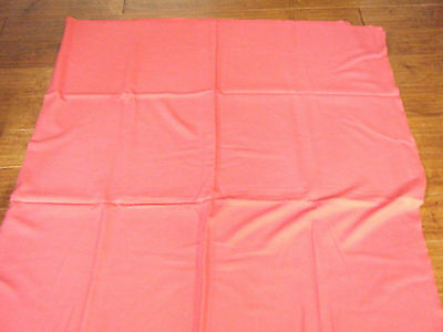 "VINTAGE TABLECLOTH 79"" x 56"" RED LINEN WITH 6 SILKY RED NAPKINS"