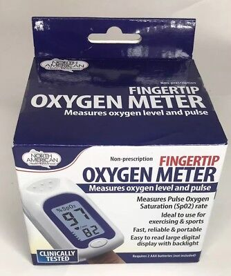 North American Health + Wellness Color-Coded Oxygen Meter