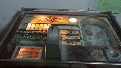 Pace Saratoga Console Slot Machine Circa 1940's Complete Working Lights Up HTF