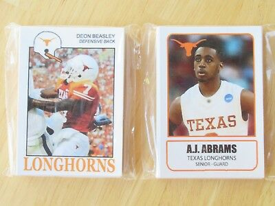 2008  University of Texas Football and Basketball sets.