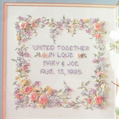 Wedding Anniversary Bucilla Stamped Ribbon Embroidery Kit United Together Love