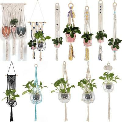 Plant Hanger Pot Hanging Macrame Hook Basket Jute Braided Rope Flower Pot Holder
