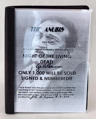 Signed John Russo & George Romero The Anubis Script Night of The Living Dead
