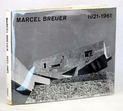 Signé Marcel Breuer Buildings et Projects 1921-1961 Reliure W/Surcouverture
