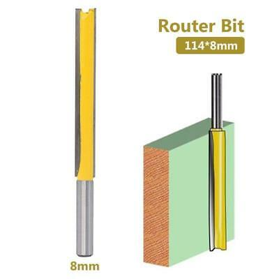 Carbide Router Bit 8mm Straight Shank Extra Trim Tenon Woodwork Cutter Tool 1pc