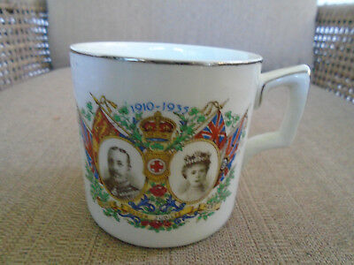 King George V Silver Jubilee mug made by J.H.W. and Sons Ltd
