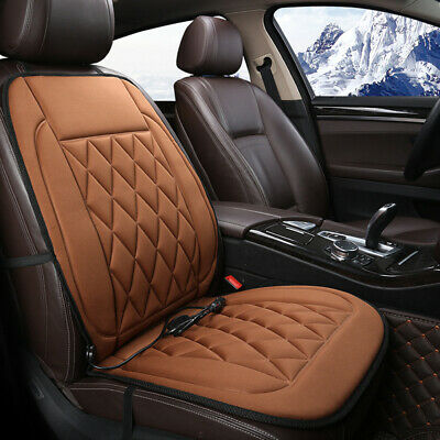Car Auto Front Seat Hot Heated Pad Cushion Warmer Protector Cover Coffee 12V Van