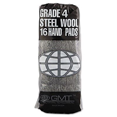 GMT Industrial-Quality Steel Wool Hand Pad 4 Extra Coarse 16/Pack 192/Carton
