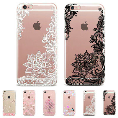 Transparent Clear Printed TPU Gel Soft Ultra-thin Case Cover For iPhone Samsung
