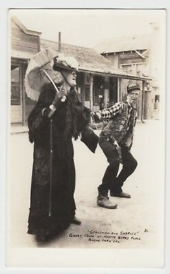 Knott's Berry Place Grandmaw & Sheriff Real Photo By Gus Thornrose Circa 1940