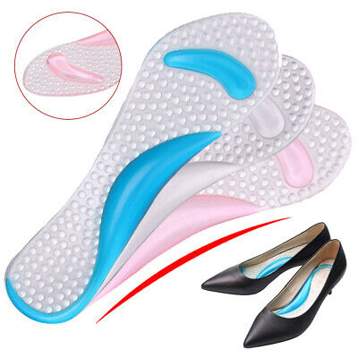 Silicone High Heel Gel Foot Arch Supports Shoes Cushion Insoles Insert Pad