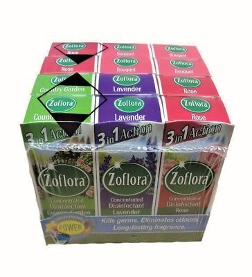 12 x 56ml Zoflora Mixed Pack - Concentrated Disinfectant, Antibacterial & Odour