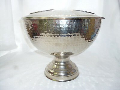 VINTAGE LARGE DOUBLE ICE BUCKET for CHAMPAGNE, WINES etc - excellent cond