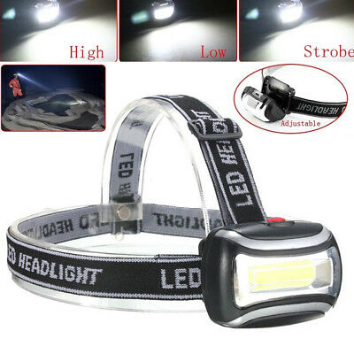 20000Lm COB LED Headlight Head Light Lamp Headlamp Flashlight Camping Fishing 3W