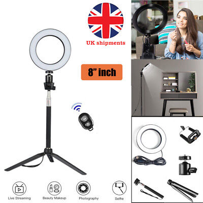 """8"""" LED Ring Light with Kit Stand Lighting camera light for Youtube Live Makeup"""