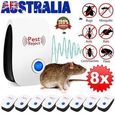 4/6/8Pcs Pest Repeller Ultrasonic Electronic Mouse Rat Mosquito Insect Control