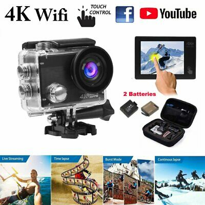 Ultra 4K Touchscreen WIFI Action Camera 1080P 20MP 2.0'' Sports Camcorder 40M