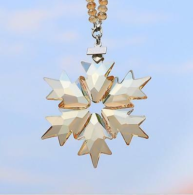 2018 Swarovski Crystal Snowflake champagn gold ANNUAL EDITION CHRISTMAS ORNAMENT
