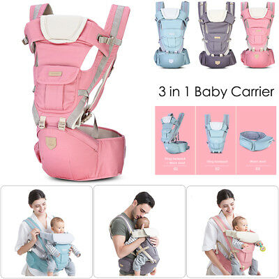 Bethbear 3 in 1 Hipseat Baby Carrier 0 - 36 Months Wrap Infant Sling Backpack