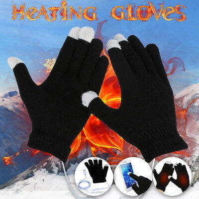 Men's USB Warm Hand Heating Gloves Constant Temperature Portable Soft Wearable A