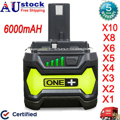 6.0Ah 4.0Ah 18V Battery For Ryobi P108 P104 ONE+ Plus P103 P107 P109 RB18L25 NEW