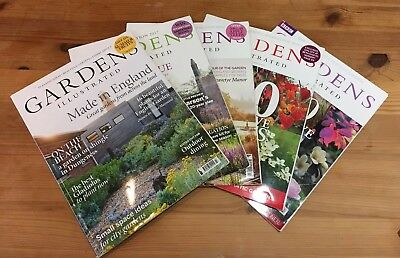 Bundle of 5 x Gardens Illustrated Magazines 2011-2018 Dan Pearson Piet Oudolf