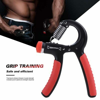 10-60Kg Adjustable Heavy Gripper Fitness Hand Exerciser Grip FatGrip Wrist