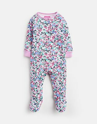 Joules 203974 Long Sleeve Babygrow With Feet in KITTY DITSY FLORAL