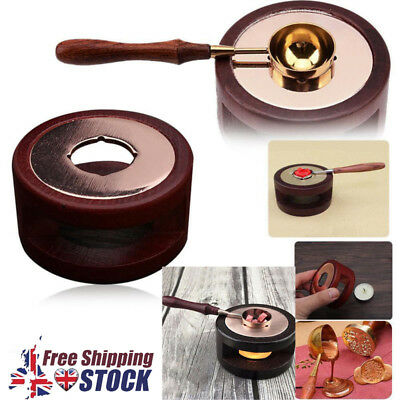 Wood Wax Seal Stamp Warmer Melting Spoon Stamp Melting Furnace Stove Pot Set UK