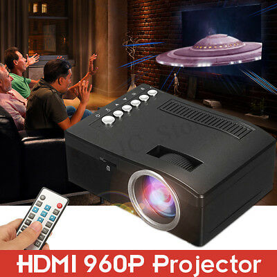 Smart HD Android Video Projector Movie LED Theater Home Cinema TF USB 1080p HDMI