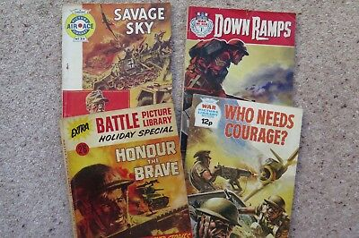 War picture library comics. Four different titles in good condition.
