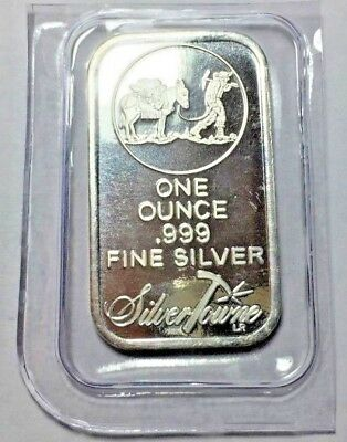 SilverTowne Logo  1 oz .999 Fine Silver Bar Sealed