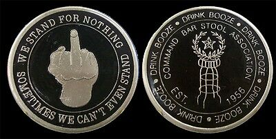 Command Bar Stool Association Cbsa Funny Collectible Challenge Coin  Coins New
