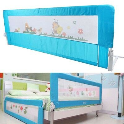 180 cm Folding Child Toddler Bed Baby Rail Safety Protection Guard Blue Big Sale
